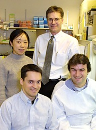 Doctors Xu Yu, Bruce Walker, Todd Allen and Marcus Alfteld in 2002.